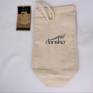 """Dansko Eco Bag Lunch Sack Recycled Cotton 13"""" x 7"""""""